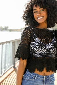 Shakti Crochet Crop Top