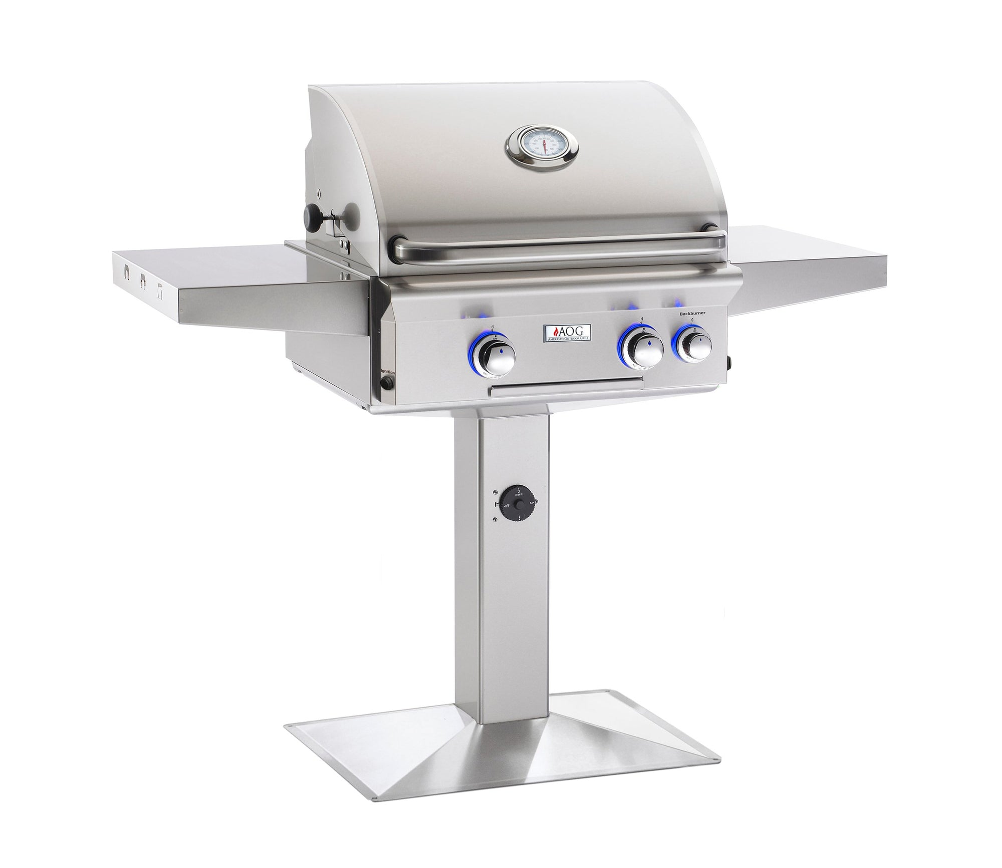 "American Outdoor Grill 'L' Series 24"" Patio Post Mount Grill"