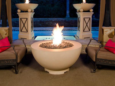 "American Fyre Designs 48"" Fire Bowl - Fire Pit Oasis"