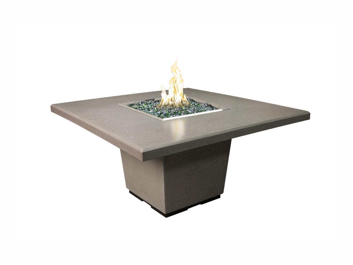 American Fyre Designs Cosmopolitan Square Dining Fire Table - Fire Pit Oasis
