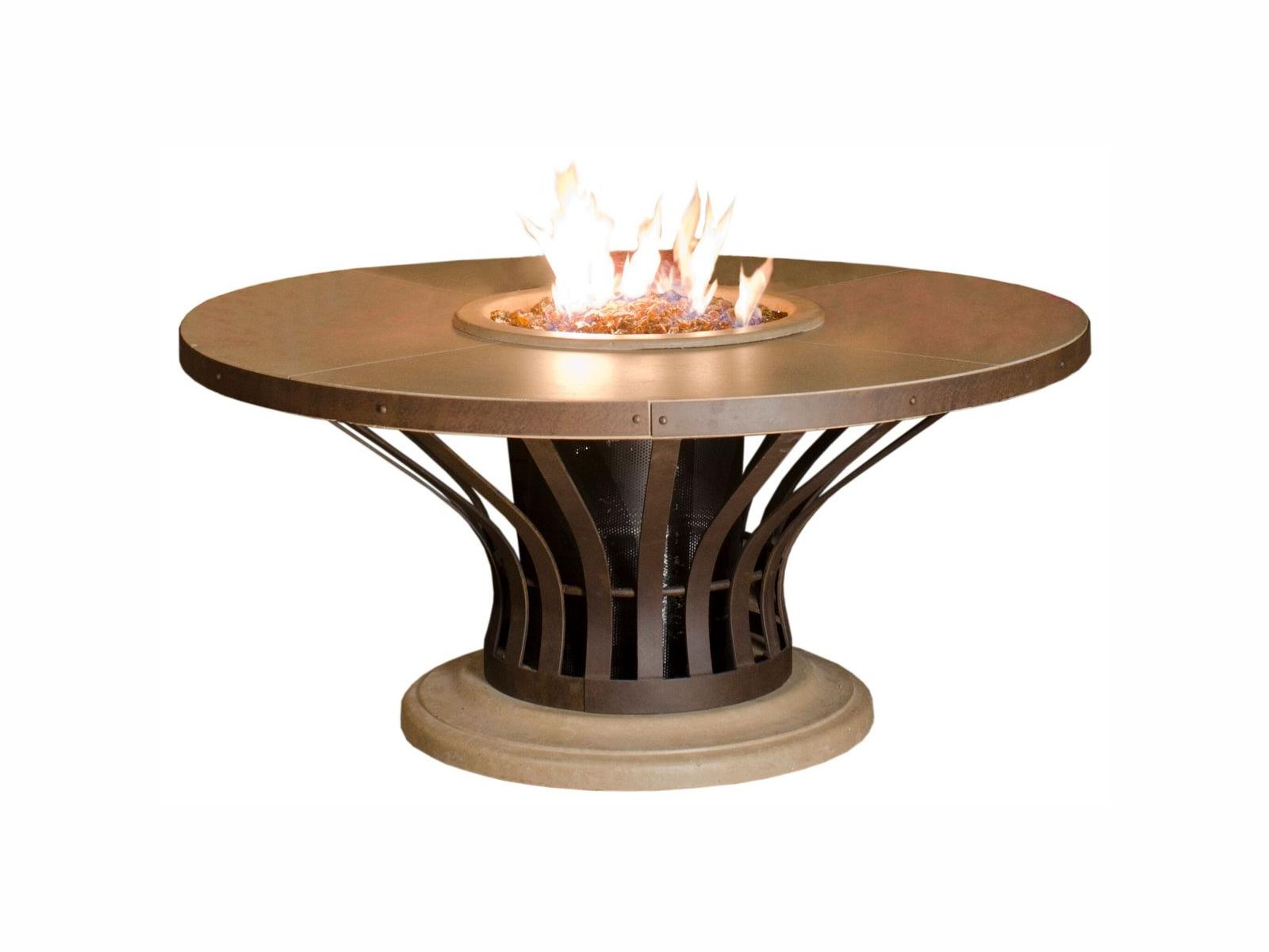 American Fyre Designs Fiesta Dining Fire Table - Fire Pit Oasis