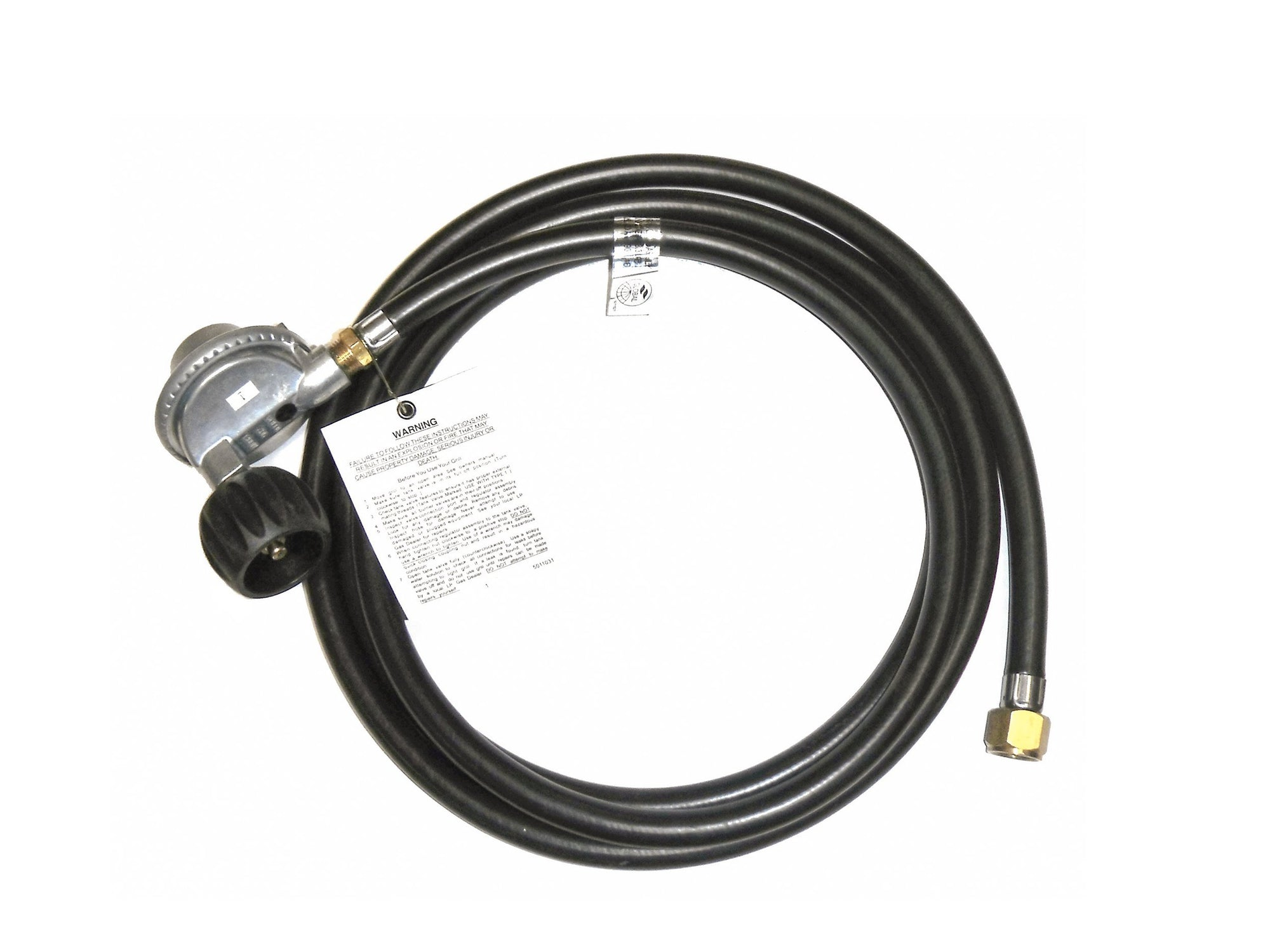 American Fyre Designs Propane 10 ft. Extension Hose with Elbow Fitting - Fire Pit Oasis