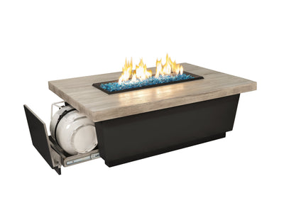 American Fyre Designs Reclaimed Wood Contempo LP Select - Fire Pit Oasis