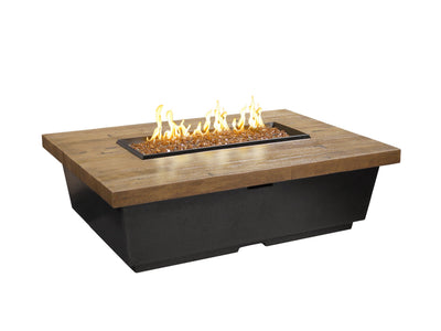 American Fyre Designs Reclaimed Wood Contempo Rectangle - Fire Pit Oasis