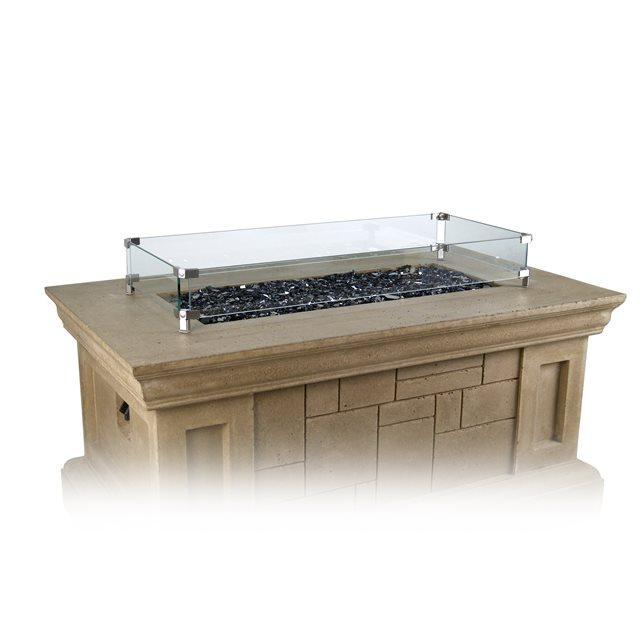American Fyre Designs Rectangular Wind Guard - Fire Pit Oasis