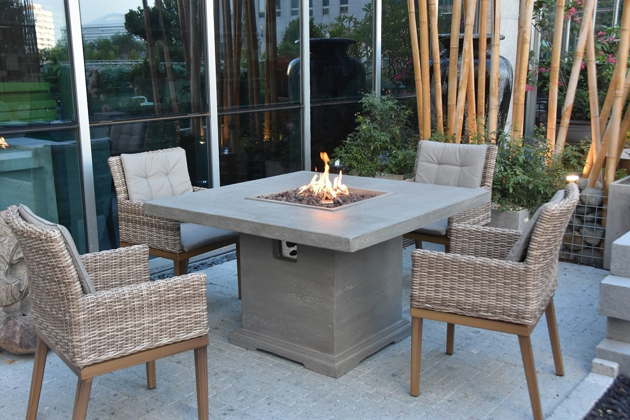 Picture of: Elementi Birmingham Dining Table Fire Pit Oasis