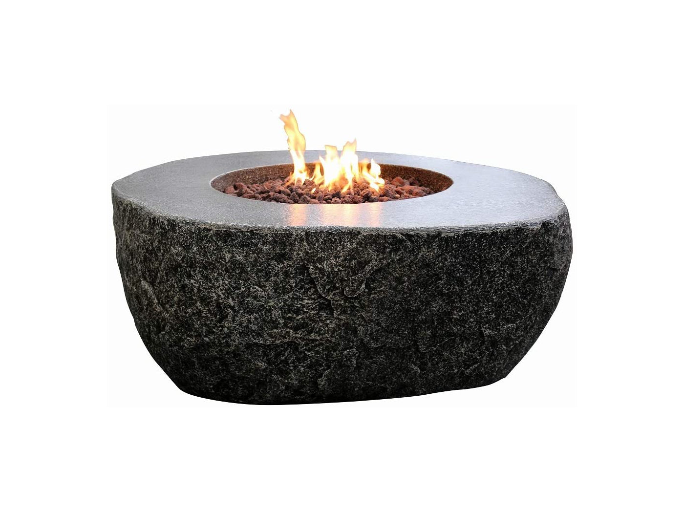 Elementi Fiery Rock Fire Table - Fire Pit Oasis