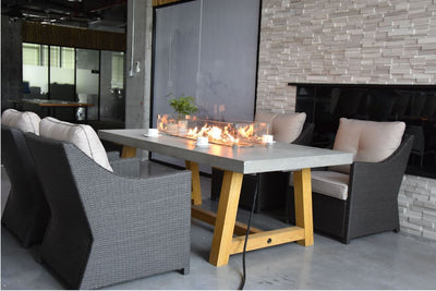 Elementi Sonoma Dining Table - Fire Pit Oasis
