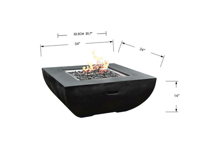 Modeno Aurora Fire Table - Fire Pit Oasis