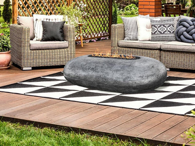Prism Hardscapes Pebble Fire Table - Fire Pit Oasis