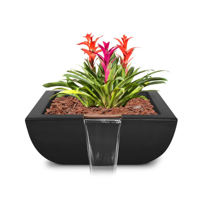 "TOP Fires by The Outdoor Plus Avalon Planter with Water Bowl 24"" - Fire Pit Oasis"