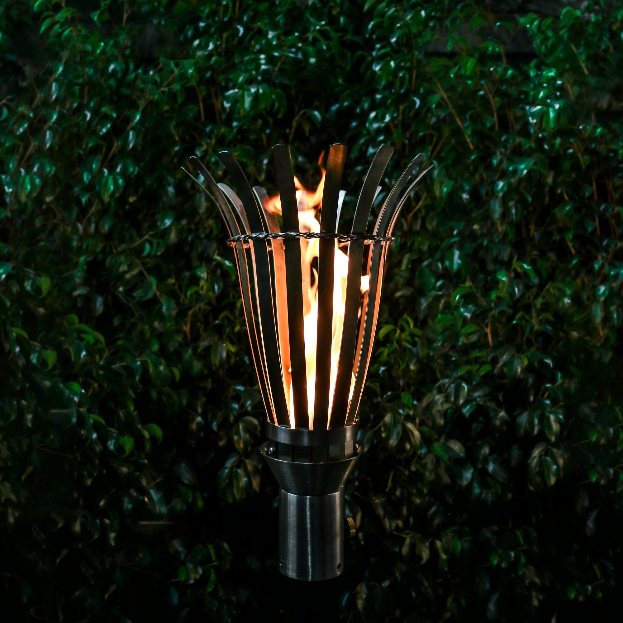 TOP Fires by The Outdoor Plus Basket Fire Torch - Fire Pit Oasis