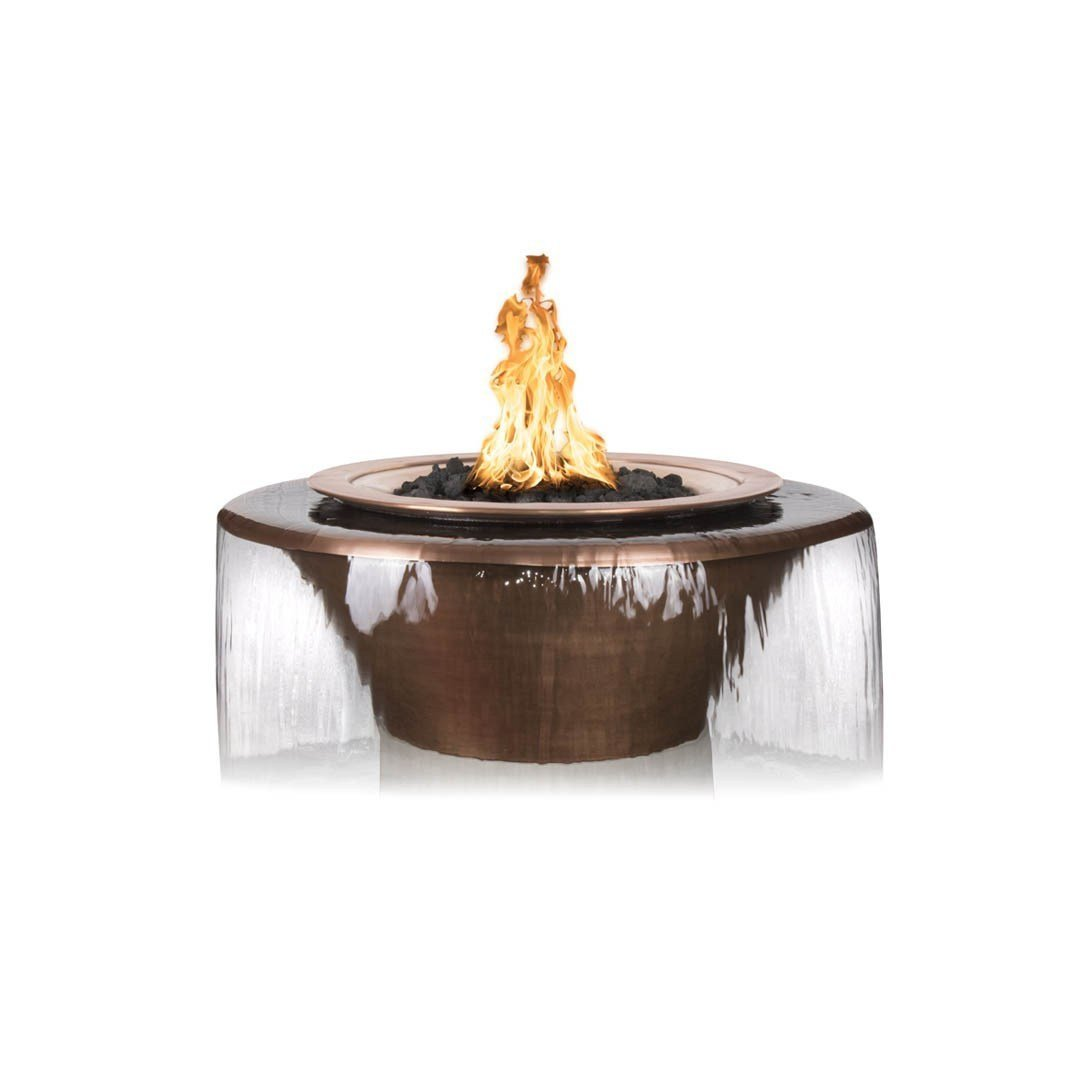 "TOP Fires by The Outdoor Plus Cazo 360° Copper Water & Fire Bowl 36"" - Fire Pit Oasis"