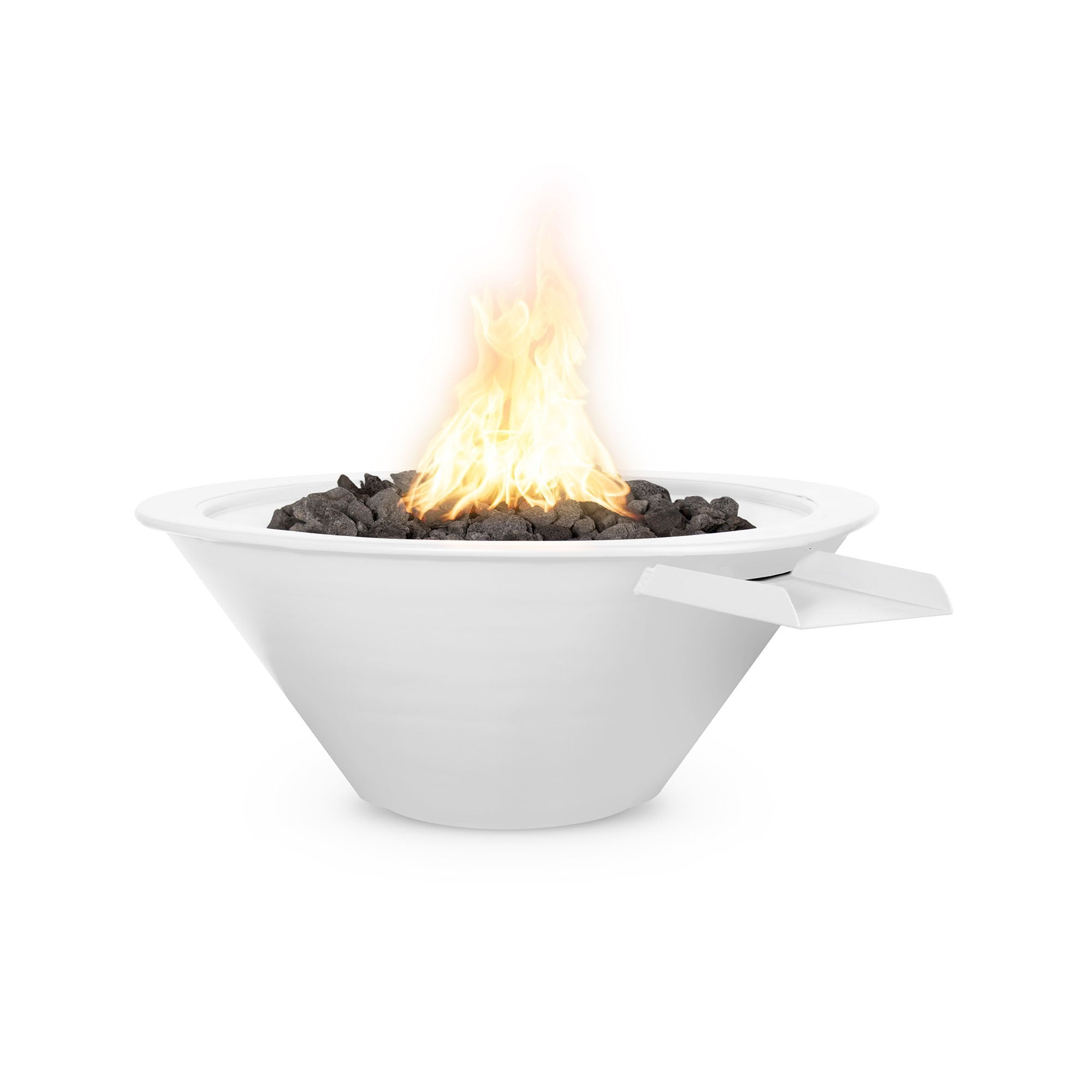 "TOP Fires by The Outdoor Plus Cazo Powder Coated Steel Fire & Water Bowl 36"" - Fire Pit Oasis"