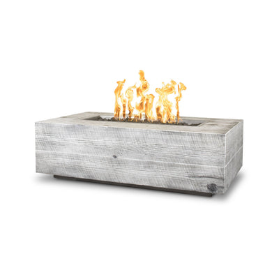 "TOP Fires by The Outdoor Plus Coronado Wood Grain Fire Pit 120"" - Fire Pit Oasis"