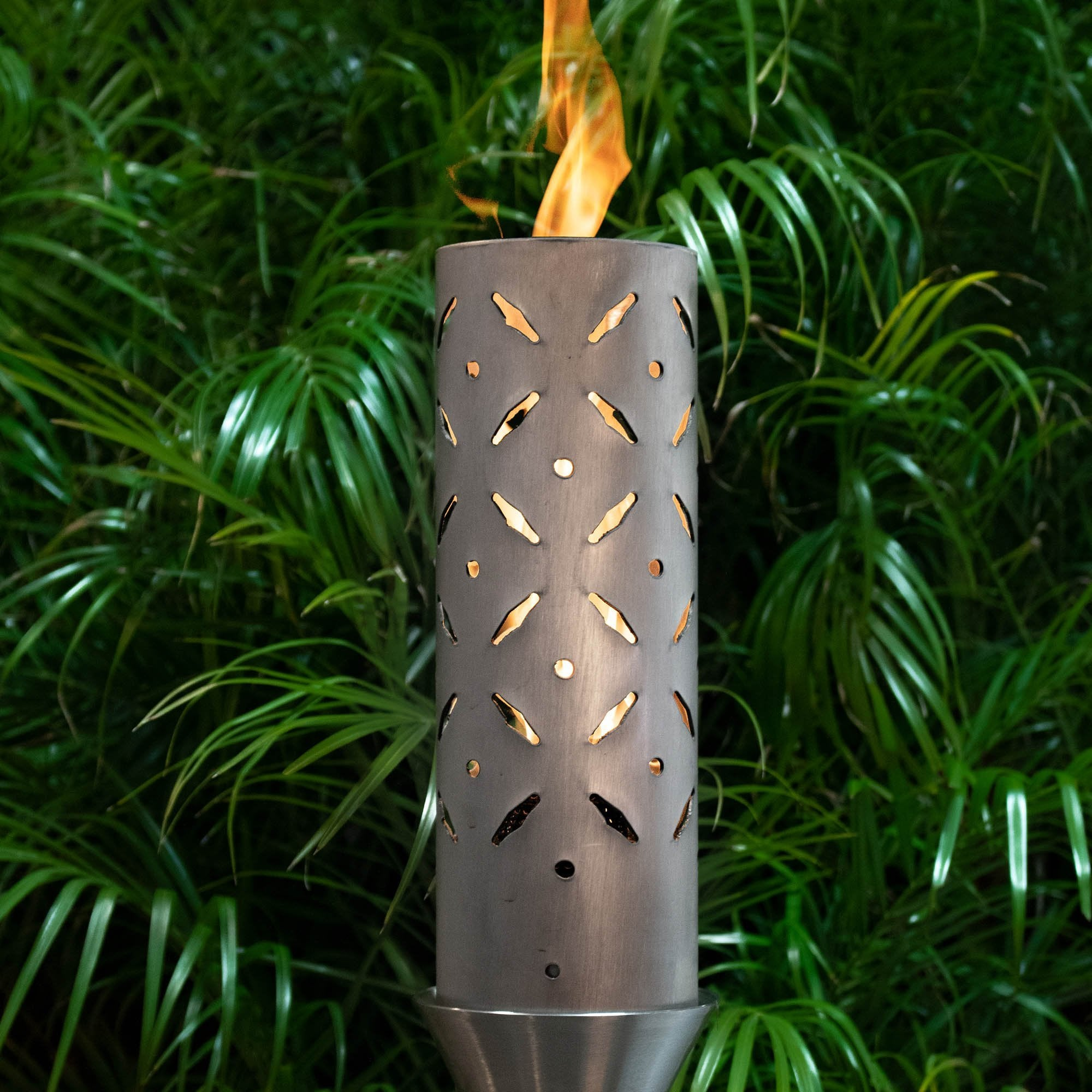 TOP Fires by The Outdoor Plus Diamond Plate Fire Torch - Fire Pit Oasis
