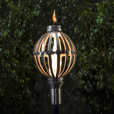 TOP Fires by The Outdoor Plus Globe Fire Torch - Fire Pit Oasis