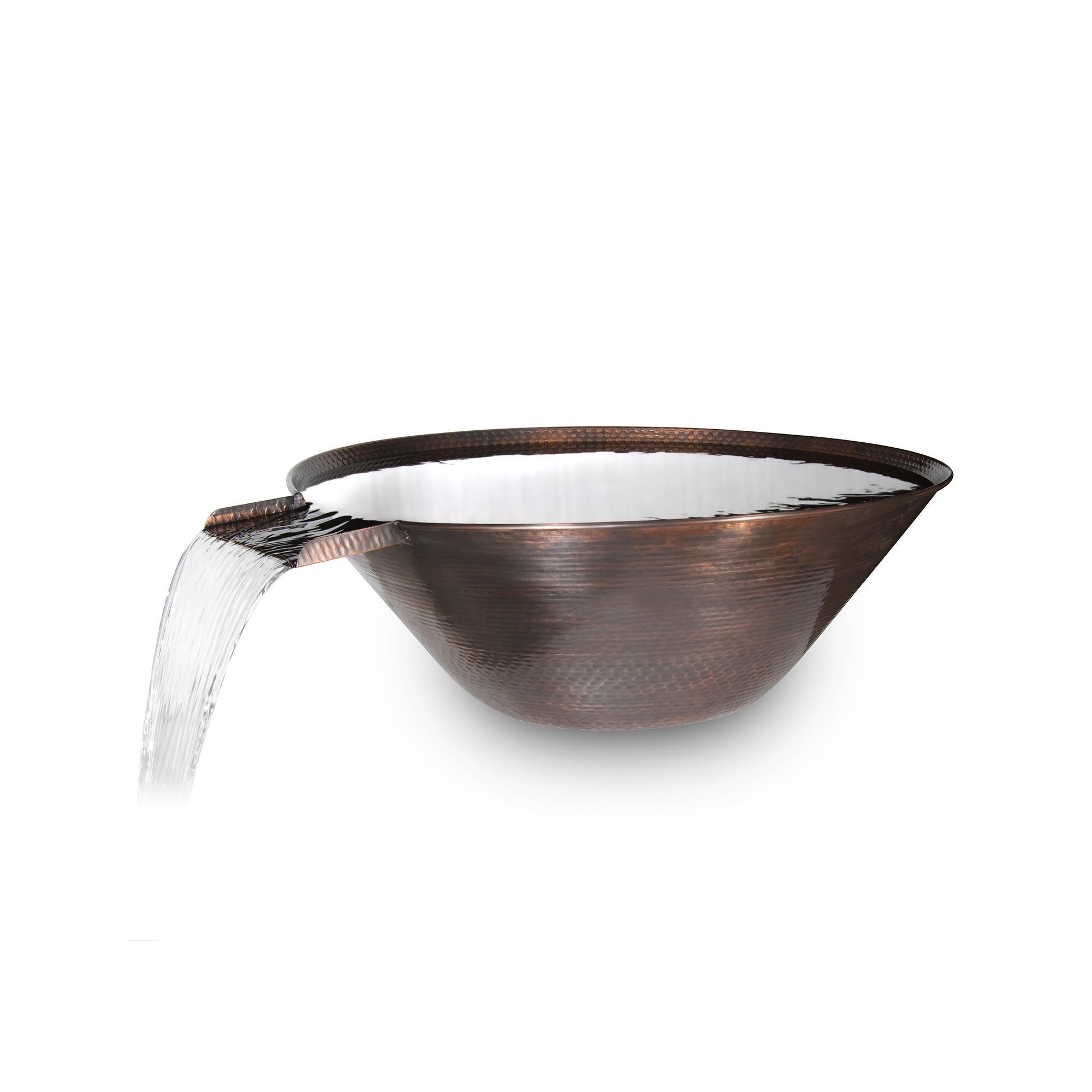 "TOP Fires by The Outdoor Plus Remi Hammered Patina Copper Water Bowl 31"" - Fire Pit Oasis"