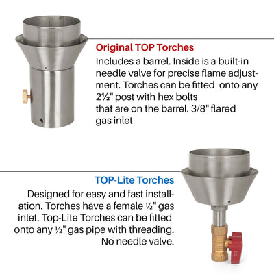 TOP Fires by The Outdoor Plus Tangled Fire Torch - Fire Pit Oasis