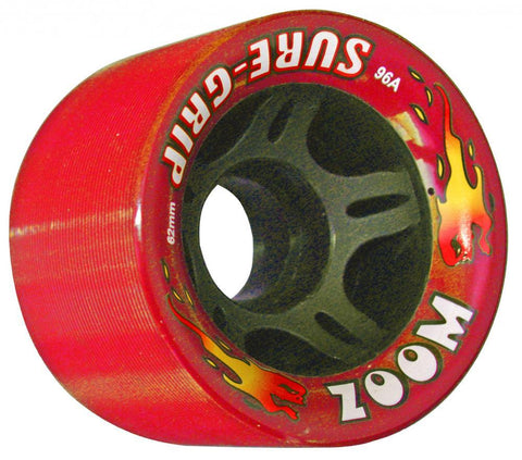 SUREGRIP Zoom Wheels 62mm 96a 8 Pack - Red
