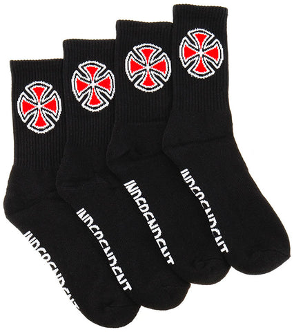 INDEPENDENT OG Cross Socks - 4 Pack Black