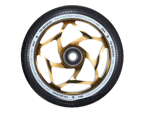 ENVY 120mm x 30mm Tri Bearing Scooter Wheel (single) - Gold/Black
