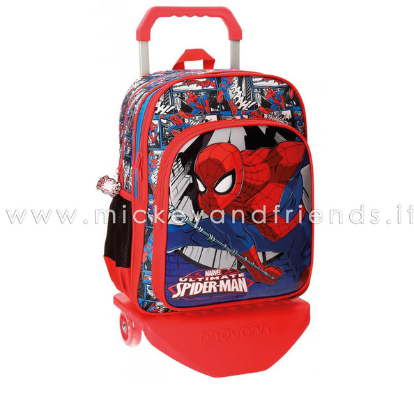 ZAINO SPIDERMAN TROLLEY SCUOLA ELEMENTARE MARVEL