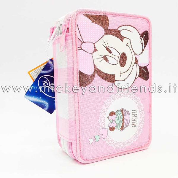 Astuccio 3 Zip Minnie Candy