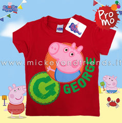T-shirt George Peppa Pig Rossa