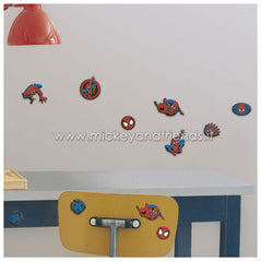 Stickers murali Spiderman Set 24 Mini Sagome