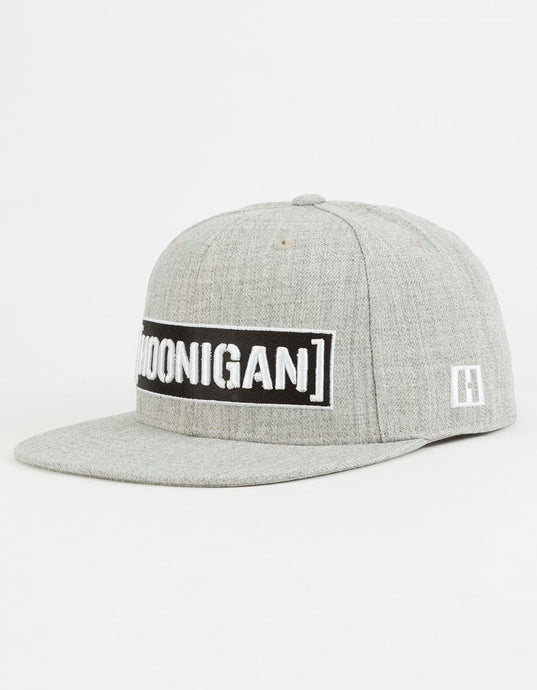 HOONIGAN Censor Bar Grey Mens Snapback Hat