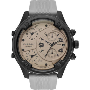 Men's Boltdown Chronograph Gray Silicone Watch