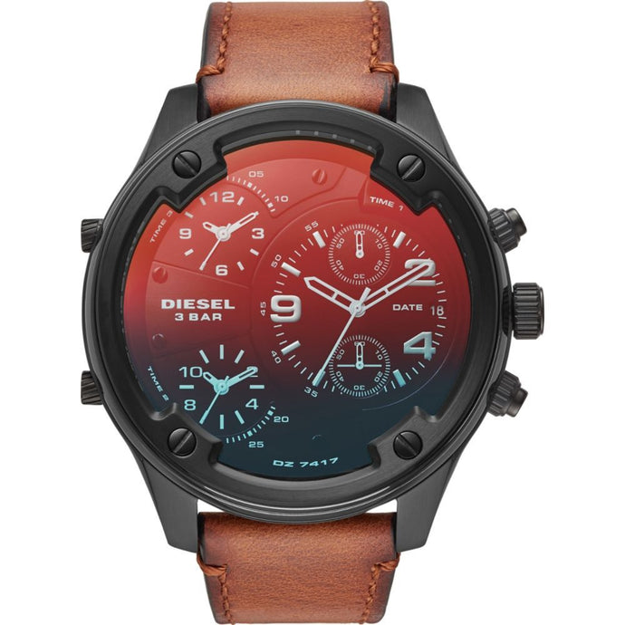 Men's Boltdown Chronograph Brown Leather Watch