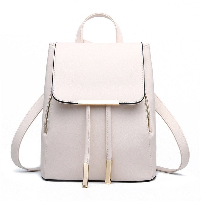 Leather Women's Laptop Travel Fashion Backpack