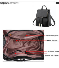 Load image into Gallery viewer, Leather Women's Laptop Travel Fashion Backpack