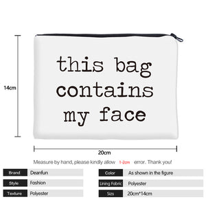 Face Cosmetic Bag Makeup Travel Organizer