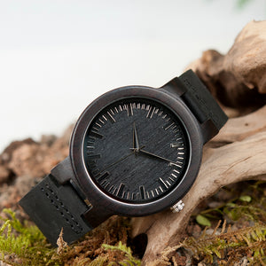BOBO BIRD WC27 Leather Quartz Wood Watch