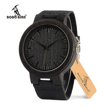 Load image into Gallery viewer, BOBO BIRD WC27 Leather Quartz Wood Watch
