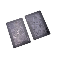 Load image into Gallery viewer, Waterproof Black Playing Cards