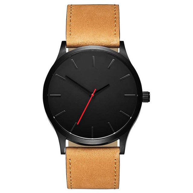 Classic Black Leather Watch