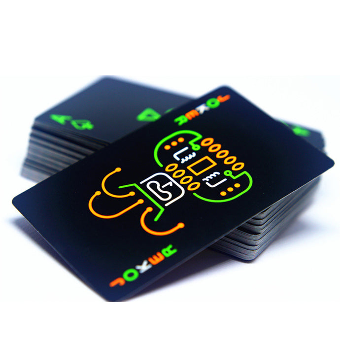 Black Luminous Fluorescent Glow-in-the-Dark Playing Cards