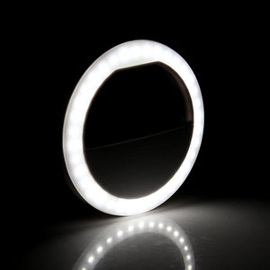 Smart Glow Clip-On Selfie LED Ring Light