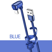 Load image into Gallery viewer, ROCK 180 Degree U-Shaped Lighting USB Braided 2.1A Fast Charging Cable