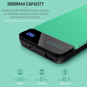 USB Type-C Power Bank with Digital Display - 10000mAh