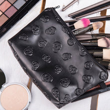 Load image into Gallery viewer, Skull Embossed Waterproof Makeup Bag