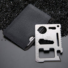 Load image into Gallery viewer, 11-in-1 Multifunction Credit Card Survival Knife Camping Tool