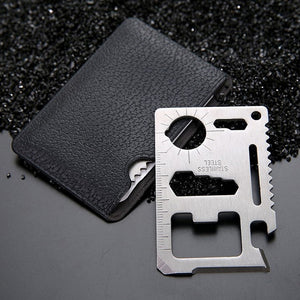 11-in-1 Multifunction Credit Card Survival Knife Camping Tool