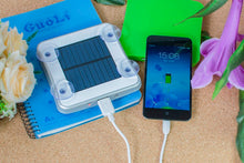 Load image into Gallery viewer, Portable Solar iPhone Charger Sticky Square USB Power Bank