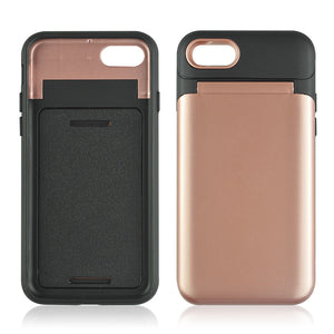 Dual Layer 3-in-1 Shockproof Phone Case with Mirror - iPhone 7/8