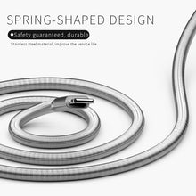 Load image into Gallery viewer, GOLF Kirsite Spring Fast Charging Sync Cable - Lightning USB